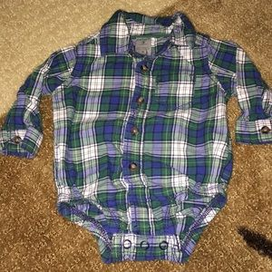 Carter's plaid LS bodysuit